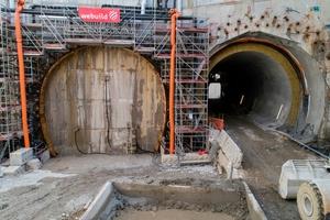 Beginn der Vereisungsphase für die erste Haupttunnelröhre