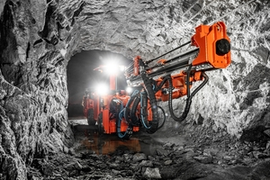 Sandvik's new DD212 development drill is designed for use in small profiles in tunnelling and mining applications