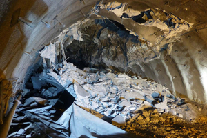 Collapse in the north drive 70 m behind the face
