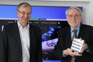 Prof. Dr.-Ing. Roland Leucker (on the left) handed over the ISTSS Achievement Award to Prof. Dr.-Ing. Alfred Haack
