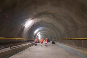 3 | Tunnel de Leb (Schweiz, 2021): Spritzbeton als endgültiger Ausbau