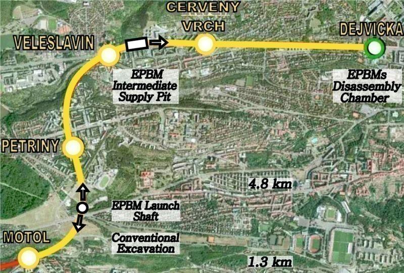 Prague Subway Mapinfo.Epbm Excavations Of Prague Subway Metro V A Tunnel