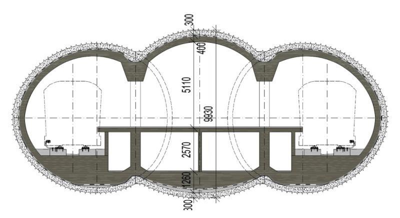 Epbm Excavations Of Prague Subway Metro V A Tunnel