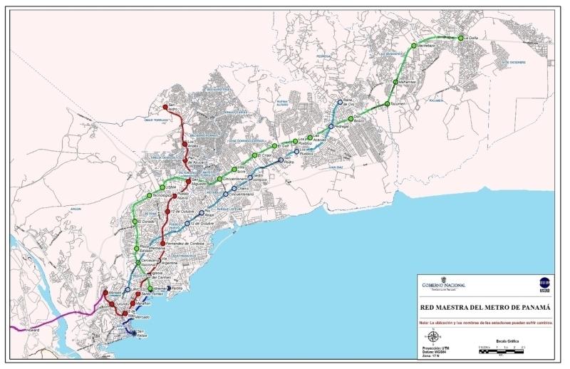 Panama City S Metro Line 1 Tunnel