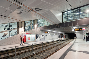 "<div class=""bildtext_en"">Greatly appreciated by the public attending the forum ""Underground Stations – a special Safety and Security Risk?"": the concepts of the Underground stations on the Düsseldorf Wehrhahn Line (the image shows the station Pempelforter Straße), presented by Dipl.-Ing. Jochen Schuh, netzwerkarchitekten, Darmstadt</div>"