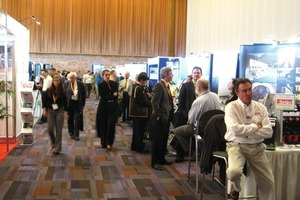 2  The accompanying exhibition was well attended during the breaks<br />