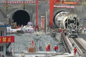 2Both Robbins TBM for China's West Qinling Rail Tunnels were designed for high cover tunnelling without roof shield fingers<br /><br />