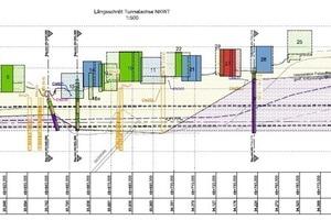 Oberflächensituation und geologischer Längsschnitt Oberstadt Cochem