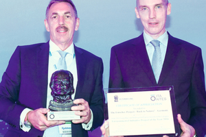 "<div class=""bildtext_en"">	Dr. Klaus Rieker (on the left) and Martin Froning (on the right) received the 2016 ITA Award for the best Environmental Initiative on behalf of those involved</div>"
