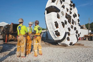 """<div class=""""bildtext_en"""">The cutterhead for the 6.2 m diameter Robbins TBM currently boring the DigIndy tunnels. The veteran Main Beam TBM will have bored more than 51 km once complete with its tunnels in Indianapolis</div>"""