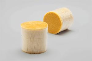 Plastic fibres in bundles