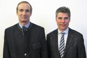 """<div class=""""bildtext_en"""">Prof. Purrer and Prof. Bergmeister chairing the BrennerCongress (from left)</div>"""