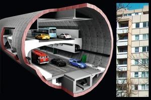 Orlovski Tunnel and a 6 Floor Apartment Building