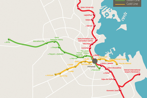 Map of Doha Metro Phase 1, which is scheduled to be completed by 2020<br /> <br />