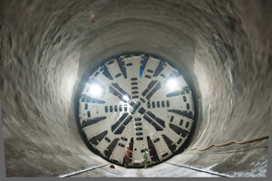 "<div class=""bildtext_en"">The tunnel boring machine Suse completed its first drive for the Filder Tunnel on the Stuttgart 21 project in the middle of November 2015 </div>"