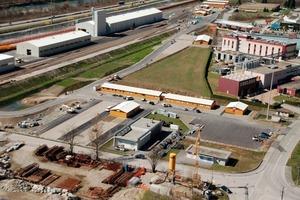 Rail technology installation yard in Bodio