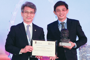 "<div class=""bildtext_en"">	Teo Tiong Yong (on the right) receives the ITA Award for the Jurong Rock Caverns in Singapore as 2016 Innovative Underground Use from Chung-Sik Yoo (on the left)</div>"