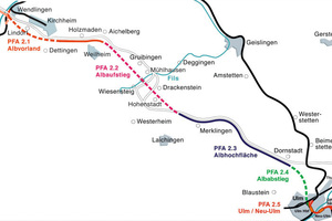 New Wendlingen-Ulm rail route with tunnels