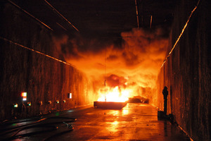 "Activity Group 3 ""Research and New Findings"" deals with latest results of safety and security related research (here: fire tests conducted within SOLIT2-project in 2011)"