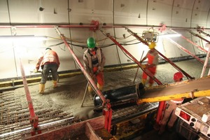 2 The novel system for laying cable protection pipes first and foremost saves space(Photo: Arge Katzenbergtunnel)<br />