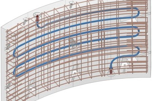 1  Energy segment provided with absorber pipes at the reinforcement cage coupled in the annular joint