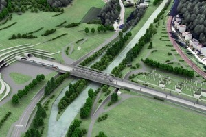 "<div class=""bildtext_en"">	Semmering Base Tunnel: Visualization of the future portal design at Gloggnitz in Lower Austria</div>"