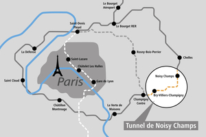 """<div class=""""bildtext_en"""">Overview of the Grand Paris Express: the consortium to which Implenia belongs has won the contract to build the highlighted """"Lot T2C"""" Noisy – Champs Tunnel on the southern part of Line 15</div>"""