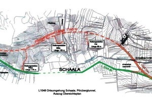 General plan of the through road in the Thuringian town of Schaala