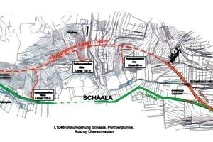 """<div class=""""bildunterschrift_en"""">General plan of the through road in the Thuringian town of Schaala </div>"""