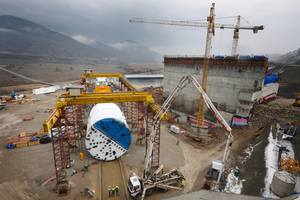 "<div class=""bildtext_en"">The 9,84 m diameter Double Shield TBM was launched in 2012 from a jobsite in mountainous Central Turkey near Ankara</div>"