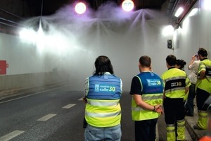 Activation of FFFS in the commissioning test of M30 tunnels in Madrid, Spain [8]<br />