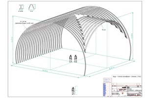 3 3-D presentation of the special steel structure consisting of GI and TH profiles<br />