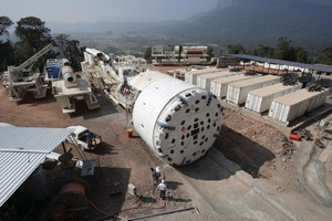 A 7.6 m (25.1 ft) diameter Single Shield is the first ever TBM to bore in Laos  ⇥(Photo: Robbins)