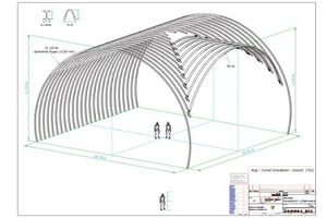 3 3-D presentation of the special steel structure consisting of GI and TH profiles