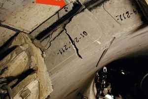 Spalling given contact between segment and shield tail