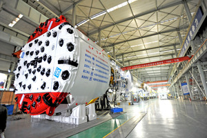 "<div class=""bildtext_en"">In August the first Gripper TBM manufactured by CREG received job site acceptance at the Jilin-Yinsong water supply tunnel in China</div>"