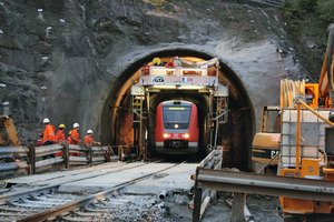 Jährod Tunnel being enlarged by the Tunnel-in-Tunnel method