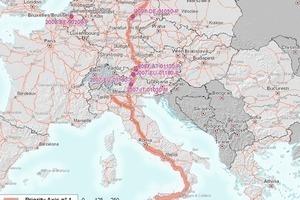 TEN-Achse Nr. 1 zwischen Berlin und Palermo<br />