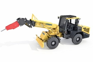 """<div class=""""bildtext_en"""">Paus 853 S8: compact dimensions and low service weight cater for manoeuvrability and flexibility. Its great mobility increases productivity and thus represents a major advantage over scaling with a crawler-mounted vehicle</div>"""