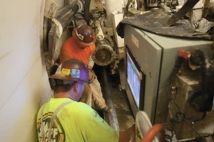 5 The 5.8 km long UNWI tunnel was completed in December 2009, after the TBM achieved record advance rates for a soft ground machine in the 4 to 5 m diameter range<br />