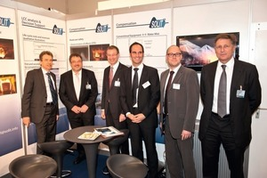 "<div class=""bildunterschrift_en"">From left to right: members of the STUVA board (Schließler, Ziegler, Morgen on the far right) obtain details of the SOLIT2 project at the 2011 STUVA Conference from partners in the consortium (Leucker, Kratzmeier, Rothe)</div>"