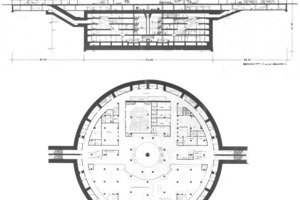 2 The prize-winning design for a large perfectly cylindrical caisson multipurpose structure to be used for transport, industry and civil defence. (Design: Dipl.-Ing. H. Will [3]<br />
