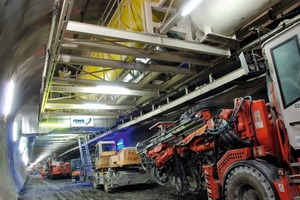 Rationalization of work flows and increased working safety thanks to free floor space for working and parking at the Ceneri Base Tunnel, see pp 48.