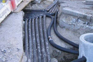 6Water pipelines laid underground for the infiltration well<br />