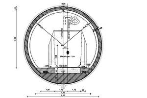"<div class=""bildtext_en"">2)Standard cross-section of the tunnel bore |</div>"