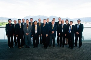 7  ITA Executive Council composed of various experts and the new executive director (from left): S. Suwansawat, S. Calinescu, C. N. Ow, F. Amberg, B. Yun, I. Hrdina, I.-M. Lee, P. Saarka. M. Knights, P. Kocsonya, C. Bérenguier, D. Peila, M. Thewes, S. Eskesen, A. Elioff. O. Vion, R. P. Lovat (F. Vuilleumier is missing)<br />
