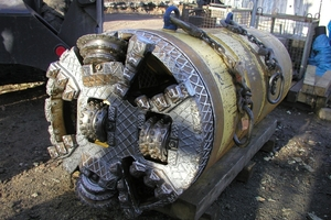 """<div class=""""bildtext_en"""">Machine pipe DA 735 with fluid-supported face and rock cutter head</div>"""