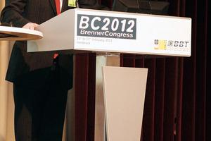 Prof. Konrad Bergmeister, BBT SE board, University of Vienna at the 2012 Brenner Congress at Innsbruck
