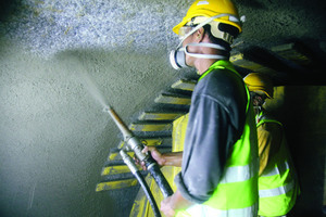Near-zero rebound shotcrete was successfully used as the primary means of ground suppor <br />