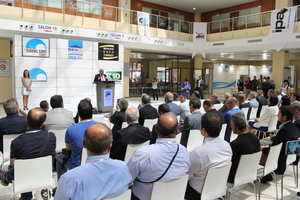 "<div class=""bildtext_en"">Prof. Nuh Bilgin, the chairman of the Turkish Tunnelling Society opened the fair in the foyer of the Expo halls in front of some 120 guests</div>"